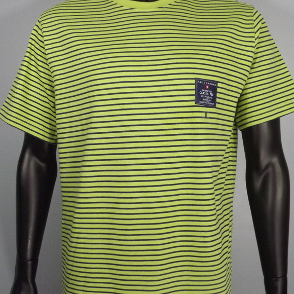7301ea23 Saddlebred Shirts | Tshirt Green Navy Stripes M | Poshmark